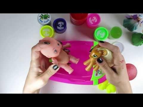 How to Make Baby Doll Bath Slime, Elsa, Anna...