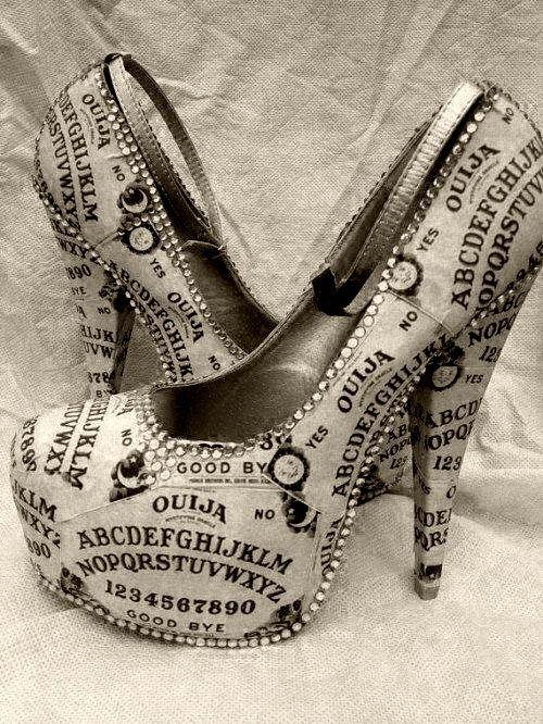 Ouija Board shoes by Miss Fiendish on Etsy