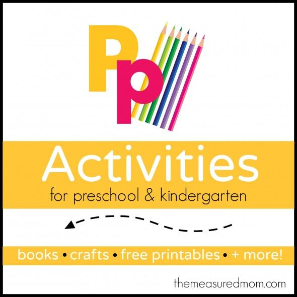 Visit The Measured Mom for a huge variety of letter P activities for preschool and kindergarten!