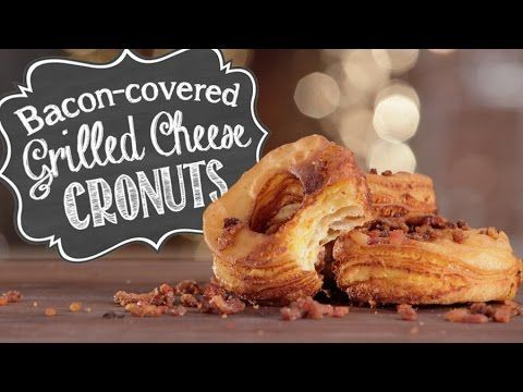 Bacon Covered Grilled Cheese Cronuts Recipe