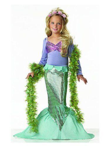 Girls Mermaid Costume Popular Fancy Dress Costumes Jokers Party Supplies http://jokersparty.com