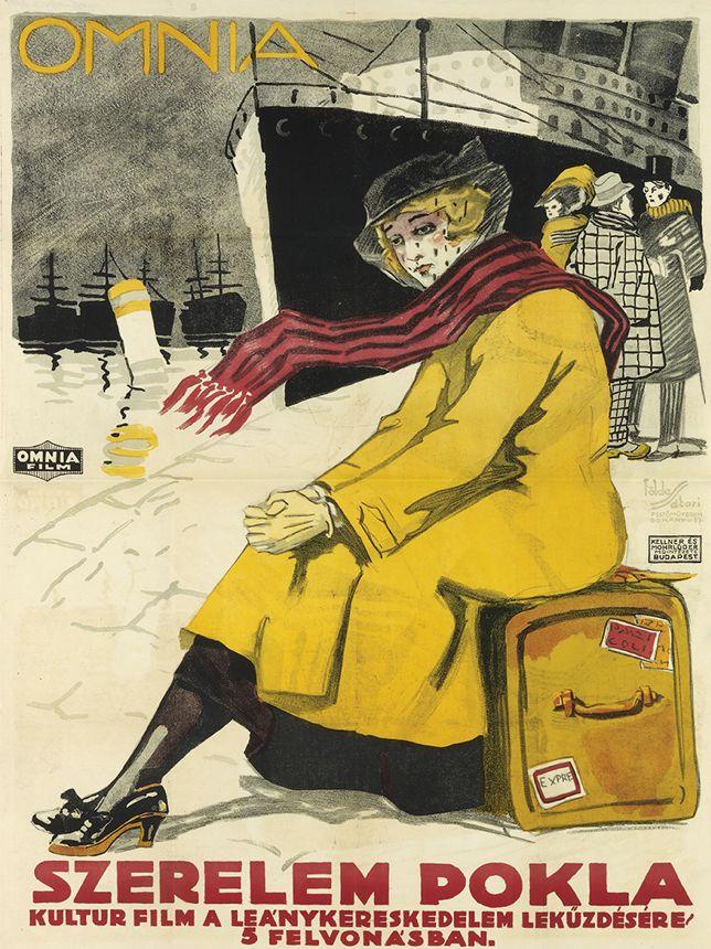 Poster by Imre Foldes (1881-1948) & Lipót Sátori (1899-1943), Omnia / Szerelem Pokla, Budapest.