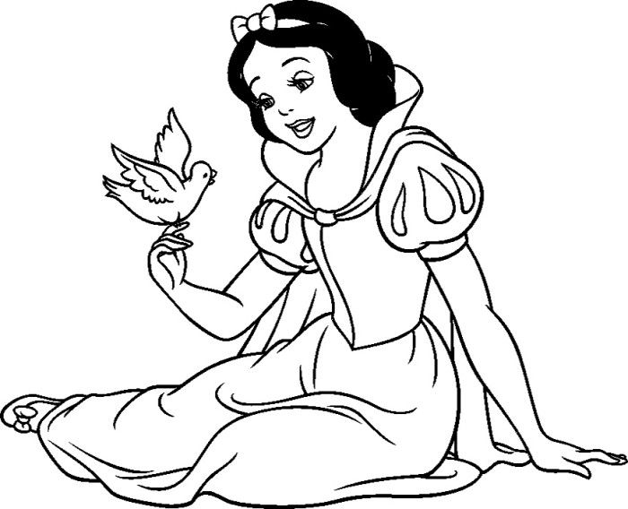 The 25 best Snow white coloring pages ideas on Pinterest Snow