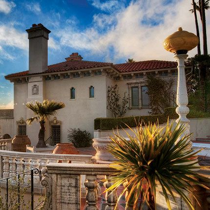 """Referred to as """"House A,"""" its formal name is Casa del Mar—Spanish for """"House of the Sea""""—and it served as the next Hearst family residence in 1924. Stroll through the quaint cottage overlooking the California Central Coast to see where Mr. Hearst lived for the last two years of his life at this hilltop estate."""