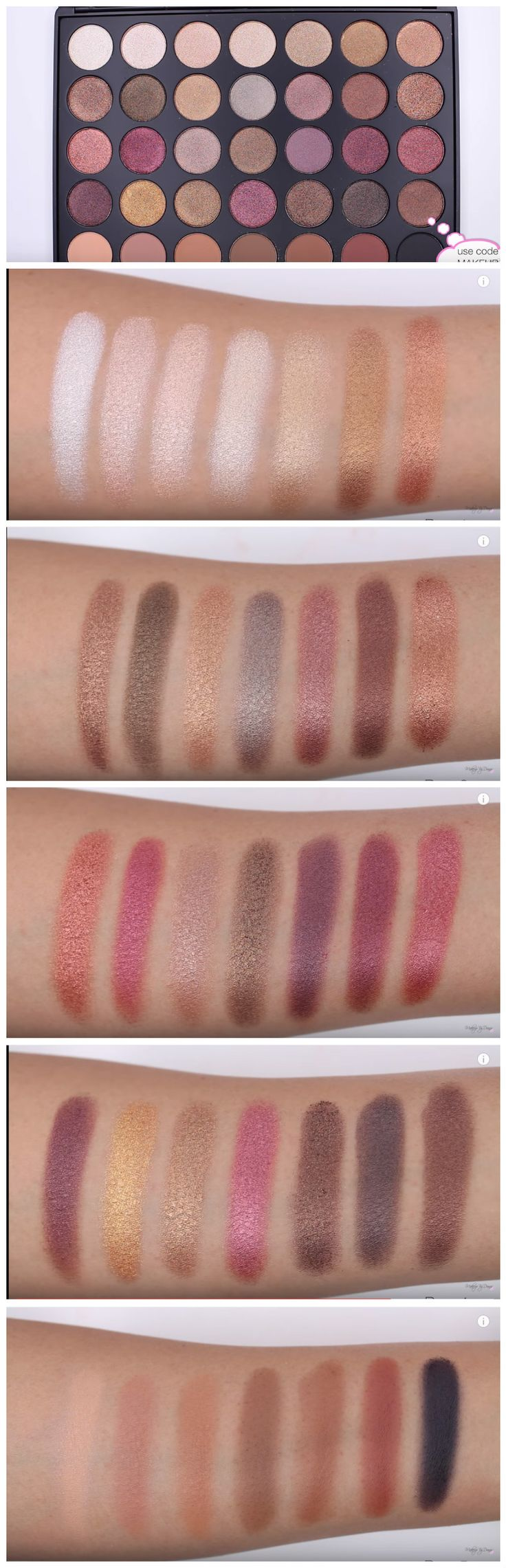NEW Morphe Brushes 35F Palette SWATCHES