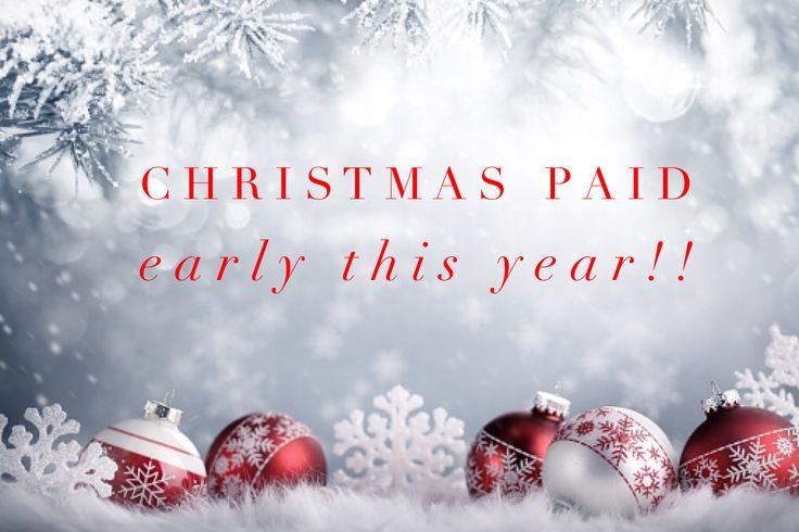 Christmas has been paid early this year and has been stress free thanks to my part time business, thanks everyone for your support xx  www.meetscarlettwilliams.com