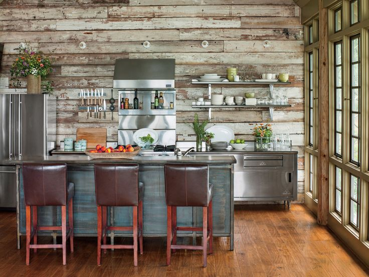 Rustic Lake House Kitchen