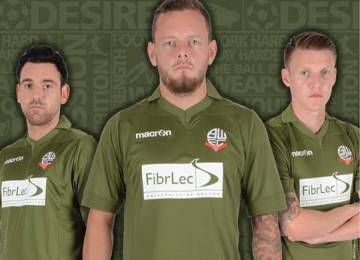 Bolton Wanderers Unveil 2014/15 Military Green Third Kit in Support of Blesma