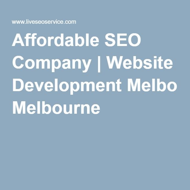 Affordable SEO Company | Website Development Melbourne