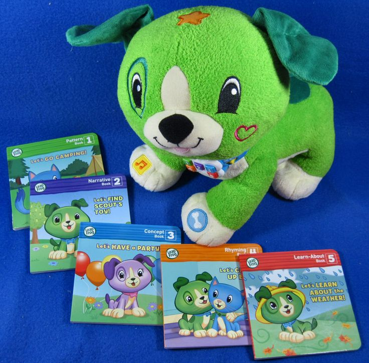 Leap Frog Read With Me Scout Green Interactive Plush Puppy ...