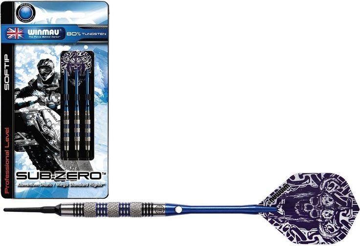 Winmau Sub-Zero Darts 3er Set, 80% Tungsten Softdarts, Soft - Dartpfeile