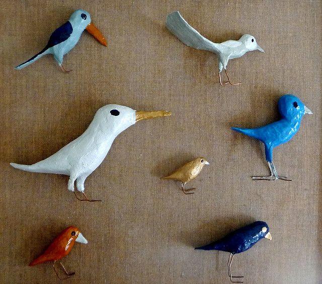 Truely cool.Little Birds, Paper Mache, Children Toys, Tadeusz Deręgowski, Baby Toys, Painting Birds, Art Room, Papier Mache, Birds Crafts