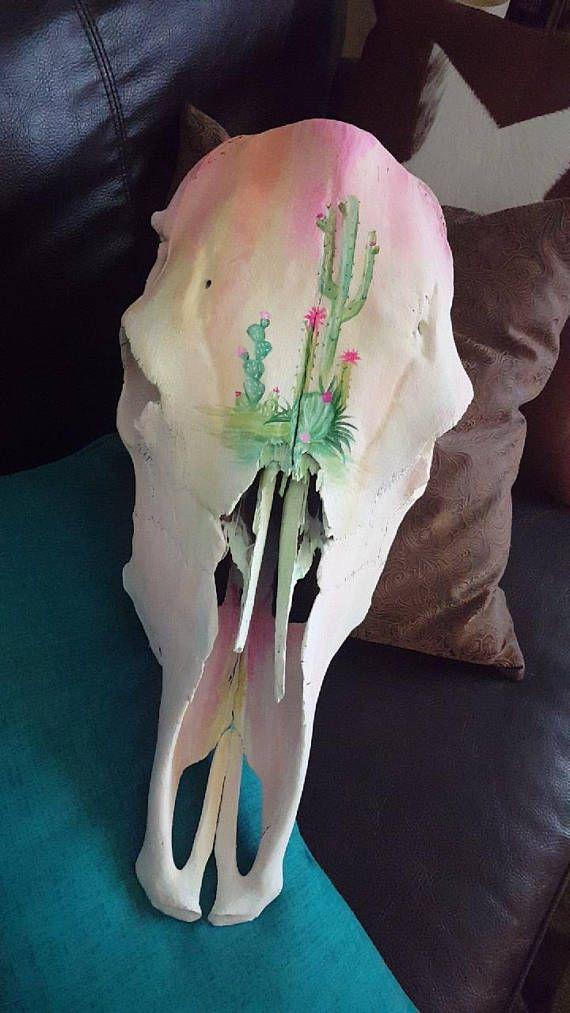 Cactus Cow skull