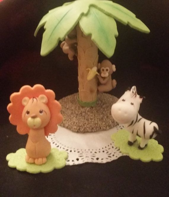 Jungle Safari Cake Topper  Monkey Jungle Cake by PartyFavorsMiami