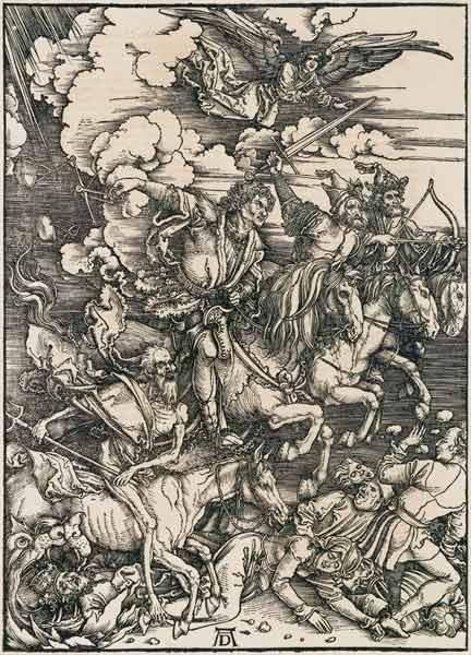 Albrecht Dürer - Les cavaliers coupe de bois apocalyptiques