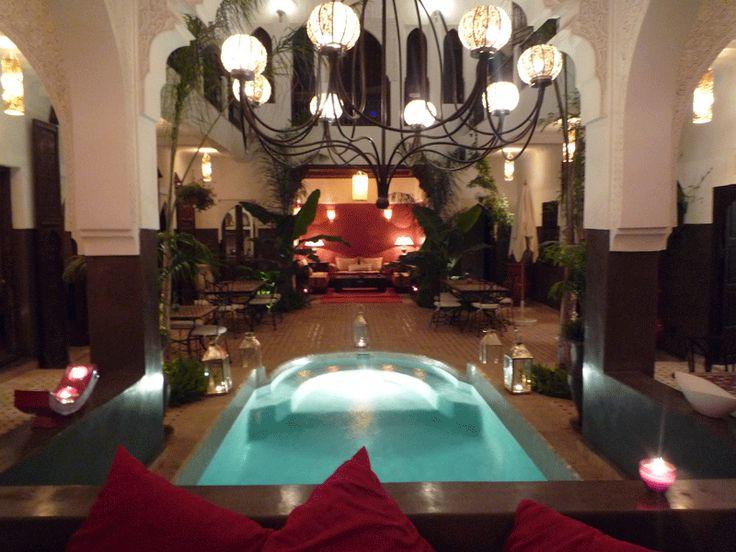 The patio & pool, Riad Pachavana, Marrakech