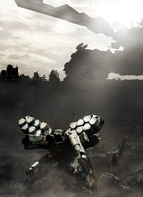 cosmicwolfstorm:  Armored Core- For Answers White Glint