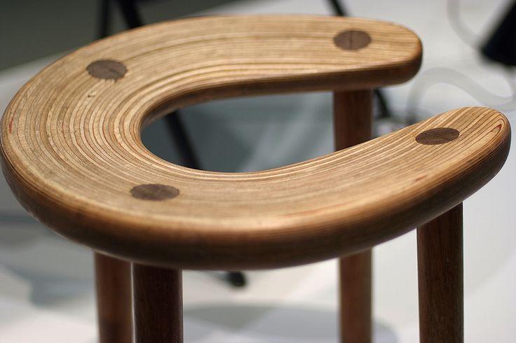 Sauna stool for the Palace hotel, '52. Design: Anti Nurmesniemi. Exhibition Builders of the Future (Design Museo in Helsinki). Image: DesignAgenda.