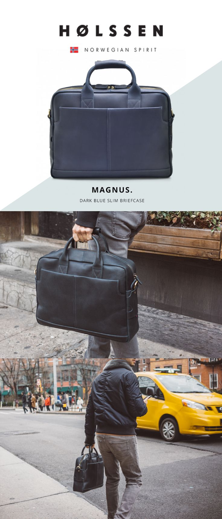 Our Magnus Briefcase is a structured slim briefcase with rugged good looks that only gets better with time. This bag features a leather shoulder strap that allows it to be carried like a messenger bag.