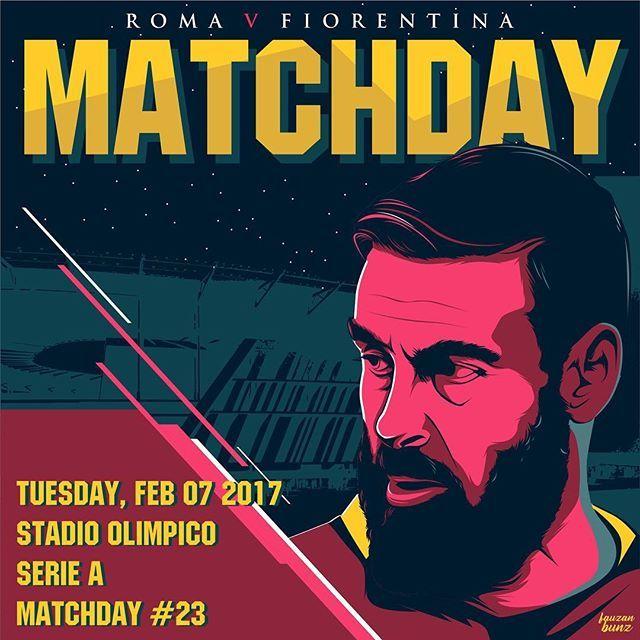 #MatchDay e... #FamoStoStadio!  Carichi❓ Qual è il vostro pronostico per #RomaFiorentina❓ *** #Roma v #Fiorentina is not far off❗️ What is your prediction for the game today❓ *** Follow @officialasroma on Instagram *** #DajeRoma #ForzaRoma #giallorossi #seriea #calcio #football #italia #DeRossi #DDR #stadiodellaroma #sdr #graphic #infographic #design #olimpico #romaart #viola