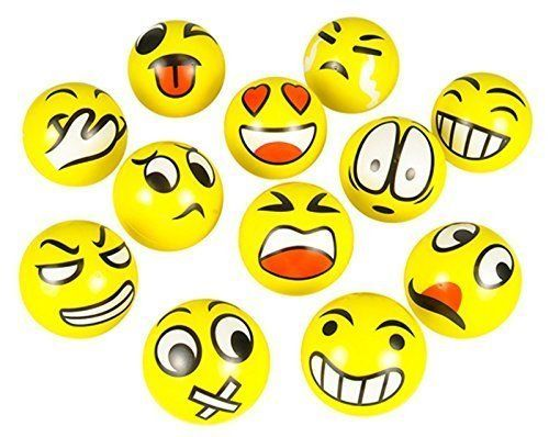 Emoji Face Squeeze Balls- appreciation gifts for doctors. (National Doctors Day Ideas)