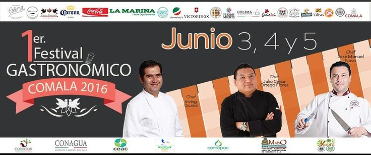 Del 3 al 5 de junio, 2016 en Comala, Colima. México Se pretende desarrollar la gastronomía de Comala y fomentar la creación de nuevos platillos con productos de la región y así procurar el turismo sustentable.
