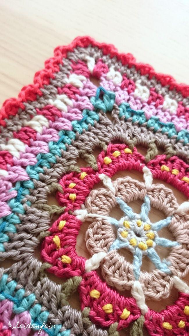 seidenfeins Blog vom schönen Landleben: PIP - farbenes Granny - Deckchen - DIY - PIP coloured granny coaster