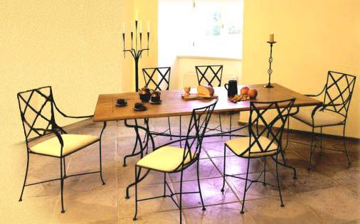 Кованная мебель кресло чай