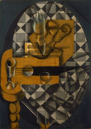 Juan Gris - Guitar and Glasses. Art Experience NYC www.artexperiencenyc.com/social_login/?utm_source=pinterest_medium=pins_content=pinterest_pins_campaign=pinterest_initial