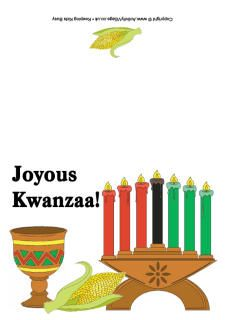 Kwanzaa coloring pages.