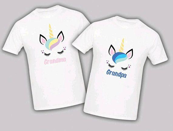 85f7e21881e Unicorn Birthday Matching T-shirts Party Family Kid Tshirt Mom