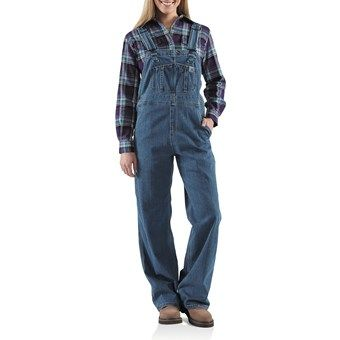 Carhartt Denim Bib Overalls - Unlined (For Women) for clearing out the garden in fall