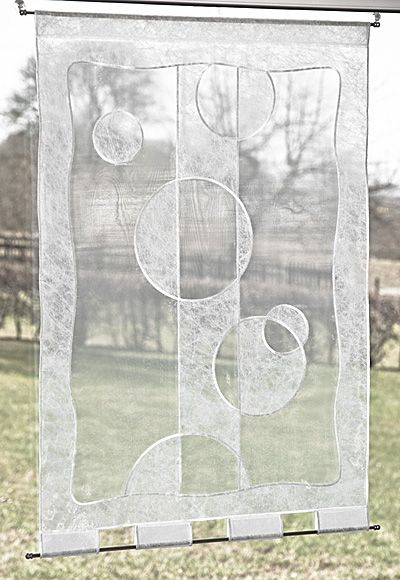 Moderne Scheibenhänger Scheibengardinen aus Plauener Spitze Spitzengardinen
