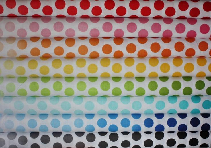 Ombre Dots Fabric by Riley Blake Designs-  Fat Quarter Bundle, 8 total. $22.00, via Etsy.