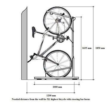 Verticales y horizontales sistemas de aparcamiento para bicicletas