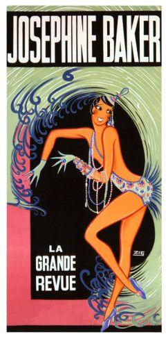 Josephine Baker reproduction procédé giclée par Zig (Louis Gaudin) sur AllPosters.fr