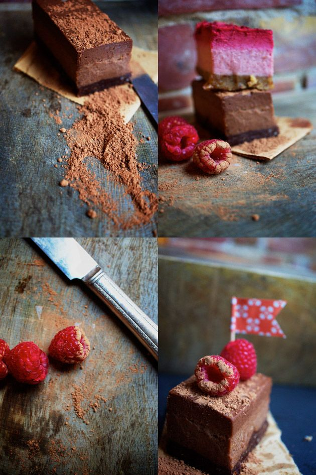 raw food raspberry and chocolate dessert/ Didn't look too much like a slice of cake, but was delicious nonetheless