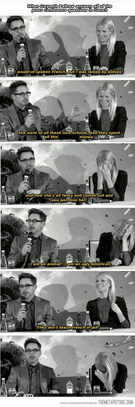 RDJ Can't speak French