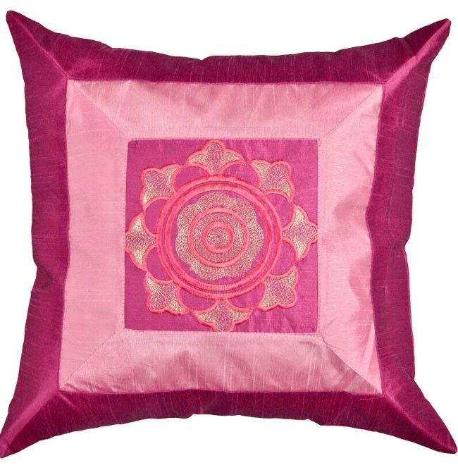 Twin colored pink cushion cover