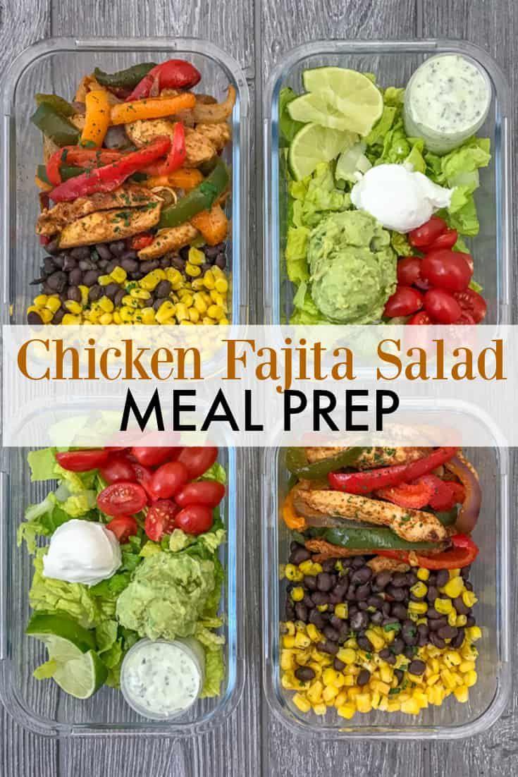 Chicken Fajita Salad Meal Prep Recipe Salad Meal Prep Meals Healthy Recipes