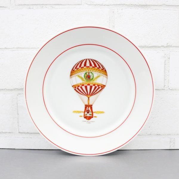 Globo de Lunardi 1785 - vintage dinnerware