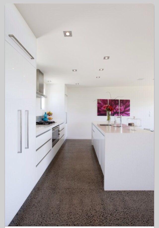 Modern White Kitchen Design modern kitchen floor tile - creditrestore