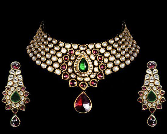 Indian Jewellery and Clothing: Kundan jewellery