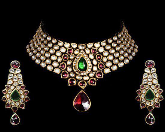 Indian Jewellery and Clothing: Kundan jewellery