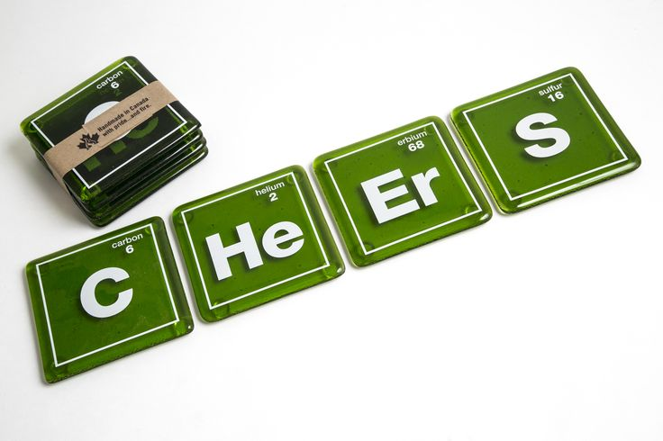 Cheers Elements Coasters-green
