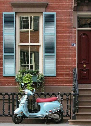 Blue Shutters Red Brick Renovations Pinterest