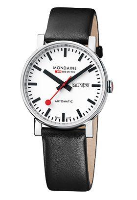 AUTOMATIC – A132.30348.11SBB. bauhaus inspired and based on large Swiss railway clocks, quartz. 35mm diameter, £110 - £120