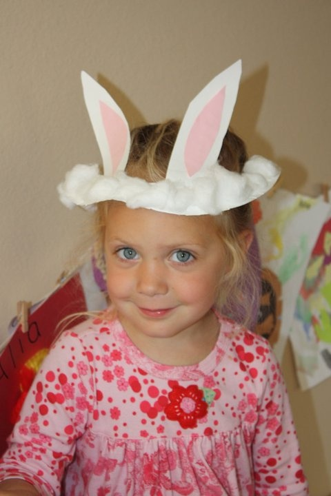 A cute paper plate Easter Bunny hat.  sc 1 st  Pinterest & 60 best Hats images on Pinterest | Infant crafts Day care and Art ...
