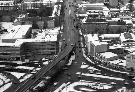 Berlin: Luftbild; Reinickendorf; Kurt Schumacher-Platz - Scharnweber-Straße, Ecke Ollenhauer-Straße (1970)