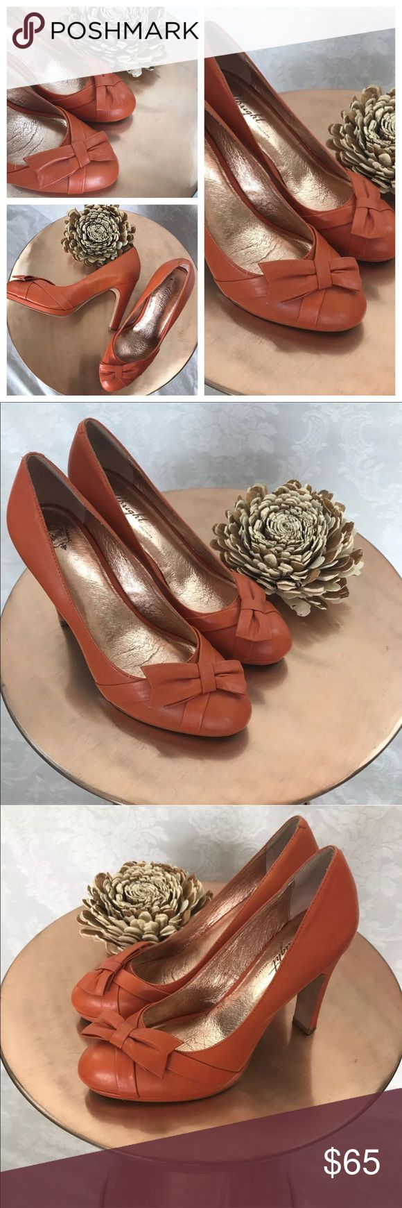 Miss Albright Anthropologie brand heels size 8.5 Miss Albright Anthropologie brand heels very well made leather and up to date trendy style adorable Bow detail at toes    AA22Bag10 Miss Albright Shoes Heels